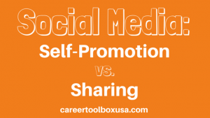 self promotion vs. sharing