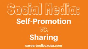 self promotion vs. sharing