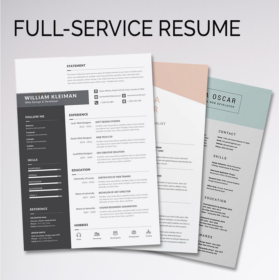 Full-Service Resume or CV Package – $799 – Career Toolbox USA